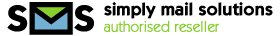 Description: Simply Mail Solutions authorised reseller logo wide
